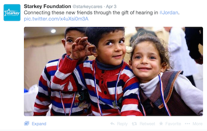 ... project brought $7.2 million to offer the gift of hearing to underprivileged people in Palestine and Jordan. These hearing aids were all donated gratis ...